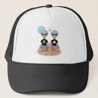 Ironic Alien Trucker Hat