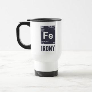 Ironic Chemical Element FE Irony Stainless Steel Travel Mug