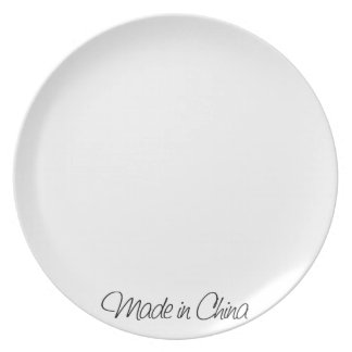 Ironic Made in China Plate
