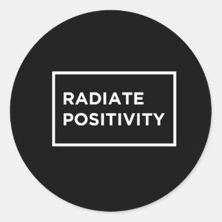 Ironic Radiate Positivity R.I.P Sticker