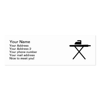 Ironing board business card