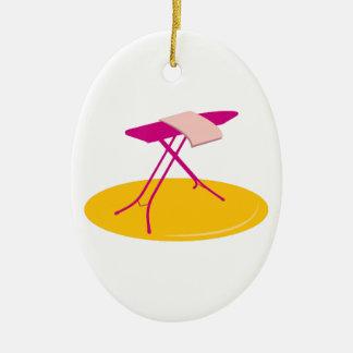 Ironing Board Ceramic Oval Decoration