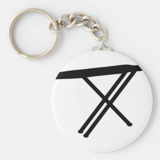 ironing board icon basic round button key ring