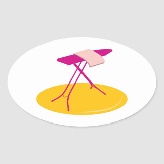 Ironing Board Oval Sticker