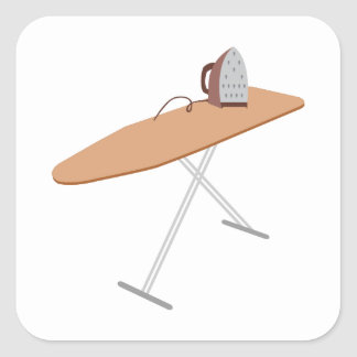 Ironing Board Square Stickers