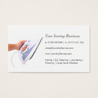 Ironing / Laundry Service Business Card