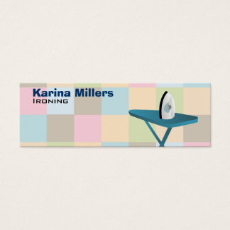 Ironing Service Skinny Business Cards