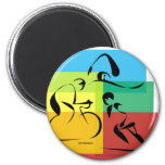 Ironman Abstract 4 6 Cm Round Magnet