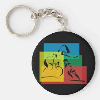 Ironman Abstract 4 Key Ring
