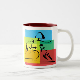 Ironman Abstract 4 Coffee Mugs