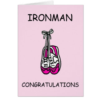 Ironman female Congratulations Card