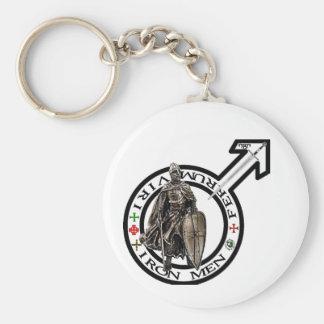 IronMen key supporter Basic Round Button Key Ring