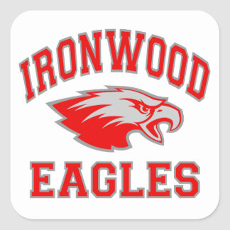 Ironwood Eagles Square Sticker
