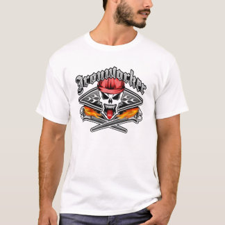 Ironworker Skull 2.1 and Flaming Spud Wrenches T-Shirt