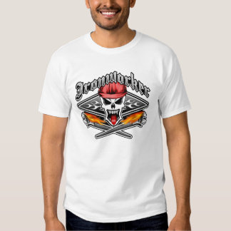 Ironworker Skull 2.1 and Flaming Spud Wrenches Tshirts