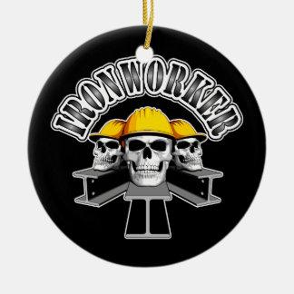 Ironworker Skulls Christmas Ornament