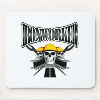 Ironworker Skulls Mouse Pad