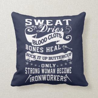 Ironworker Woman Cushion