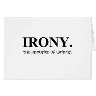irony card