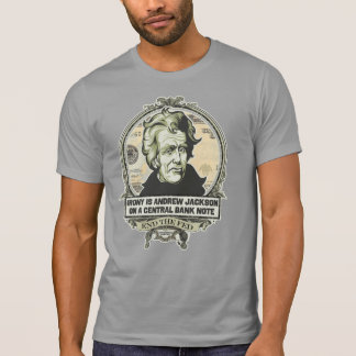 Irony Is Jackson on a Central Bank Note Shirt