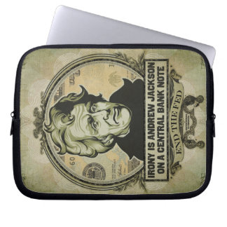 Irony Is Jackson on a Central Bank Note Sleeve Laptop Computer Sleeve