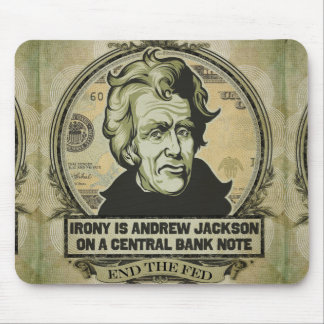 Irony on A Central Bank Note Mousepad