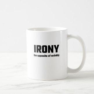Irony The Opposite Of Wrinkly Basic White Mug