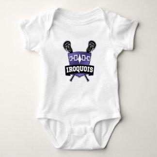 Iroquois Lacrosse Logo Baby Bodysuit