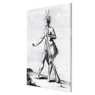 Iroquois Man, inhabitant of Canada Canvas Print