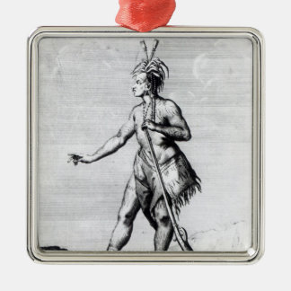 Iroquois Man, inhabitant of Canada Christmas Ornament
