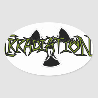 Irradiation Oval Stickers