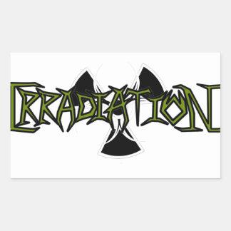 Irradiation Rectangle Sticker