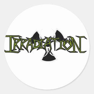 Irradiation Round Stickers