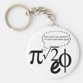Irrational Buddies Basic Round Button Key Ring