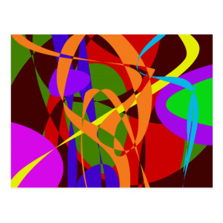 Irregular Abstract Forms and Lines Postcard