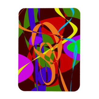 Irregular Abstract Forms and Lines Rectangular Magnets