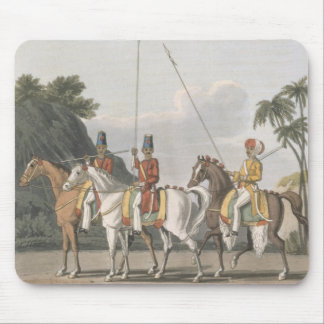 Irregular Cavalry, Bengal Army 1817, plate 5 from Mouse Mat