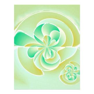 Irregular floral shapes 21.5 cm x 28 cm flyer