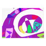 Irregular Forms Purple Personalized Invites