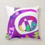 Irregular Forms Purple Pillow