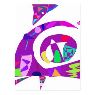 Irregular Forms Purple Postcard