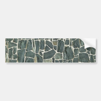 Irregular Stones Wall Texture Bumper Sticker