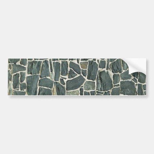 Irregular Stones Wall Texture Bumper Sticker
