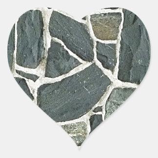 Irregular Stones Wall Texture Heart Sticker