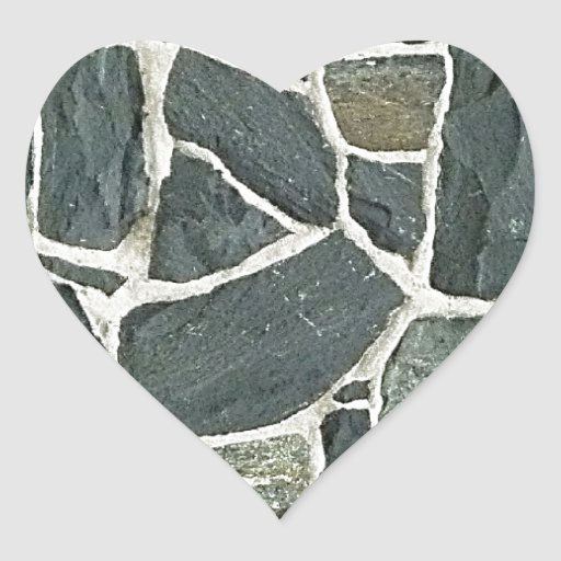 Irregular Stones Wall Texture Heart Stickers