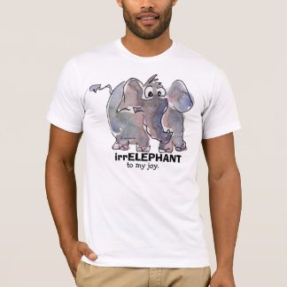 irrELEPHANT to my joy 3 cartoon T Shirt
