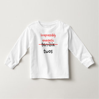 Irrepressibly energetic twos t-shirts