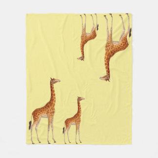 Irresistable Giraffe Fleece Blanket
