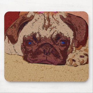 Irresistible Pug Puppy Dog Mouse Pad