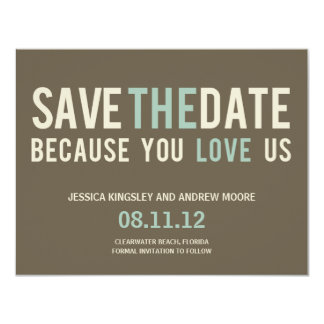 Irresistible Request Save The Date Card - Gray 11 Cm X 14 Cm Invitation Card